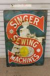 Singer Sewing Machines Pictorial Enamel Sign. #