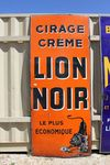 Huge Black Lion Liquid Polish Enamel Sign