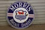 Morris Retail Dealer Double  Enamel Sign