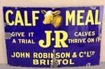 John Robinson Calf Meal Farming Enamel Sign. #