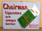 Chairman Cigarettes Pictorial Enamel Sign#