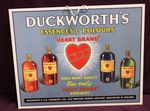 Original And Superb Duckworths Advertising Card