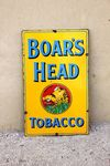 Boars Head Tobacco Enamel Sign