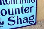 Churchmans Counter Shag Tobacco Enamel sign