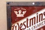 Framed Westminster Virginia Cigarettes Enamel Sign