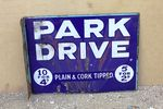 Park Drive Double Sided Post Mount Enamel Sign #