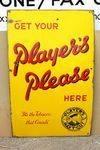 Players Please Cigarette Enamel Sign #