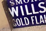 Wills Gold Flake Cigarettes Post Mount Enamel Sign