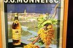 Classic J G Monnet Cognac Shop Display Advertising Card