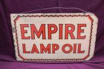 Empire Lamp Oil Double Sided Enamel Sign #