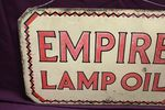 Empire Lamp Oil Double Sided Enamel Sign