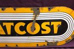 At Cost Enamel Sign