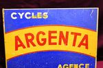 French Tin Argenta Cycles Post Mount Sign