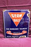 Germ Oils Advertising Enamel Sign