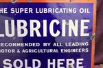 Lubricene Sold Here Enamel Sign