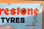 Firestone Map Of England Enamel Sign