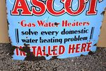 Ascot Hot Water Installed Here Enamel Sign