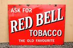 Red Bell Tobacco Enamel Advertising Sign.#