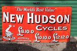 New Hudson Cycles Vintage Enamel Sign.#