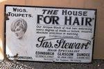 The House Of Hair Enamel Advertising Sign