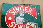 Singer Sewing Machine Advertising Enamel Sign