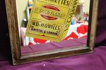 Framed Wills Gold Flake Advertising Mirror