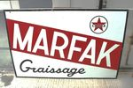 Caltex Marfax Enamel Advertising Sign.#