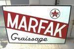 Caltex Marfax Enamel Advertising Sign.#
