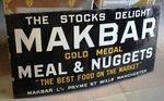 Makbar Farming Enamel Sign.#