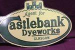 Agent For Castlebank Dyeworks Glasgow Enamel Post Mount Sign