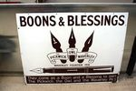 Boons + Blessing Fountain Pens Enamel Sign. #