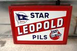 Leopold Star Pils Framed Enamel Sign Arriving Nov