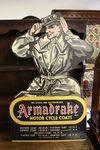 Armadrake Motor Cycle Coats Hard Board Sign.#