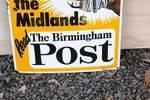 Birmingham Post Pictorial Enamel Sign