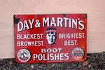Day And Martins Boot Polish Enamel Sign, #