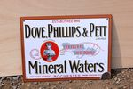 Dove PhillipS & Pett Mineral Water Enamel Sign. #