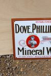 Swan Fountain Dove Phillip and Petts Mineral Water Enamel Sign