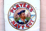 Playerand96s Navy Cut Enamel Sign