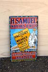 H Samuel Watches And Jewels Enamel Sign.#