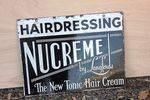 Hairdressing NuCreme Double Sided Enamel Sign. #