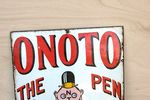 Onoto Pen Pictorial Enamel Sign