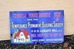 Temperance Permanent Building Society Enamel Sign. #