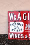 WandA Gilbeys Wines and Spirits Enamel Sign