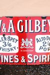 WandA Gilbeys Wines and Spirits Enamel Sign
