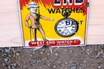 Westend Watches Enamel Advertising Sign