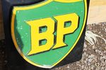 BP Cast Alloy Shield Sign