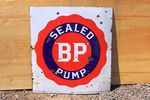 BP Sealed Pump Enamel Sign.#