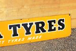 India Tyres Enamel Advertising Sign