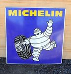 Michelin Pictorial Near Mint Double Sided  Enamel Sign.#