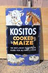 Kozitos Cooked Maize Pictorial Enamel Sign.#